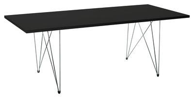 Table XZ3 / 200 x 90 cm - Magis noir en métal