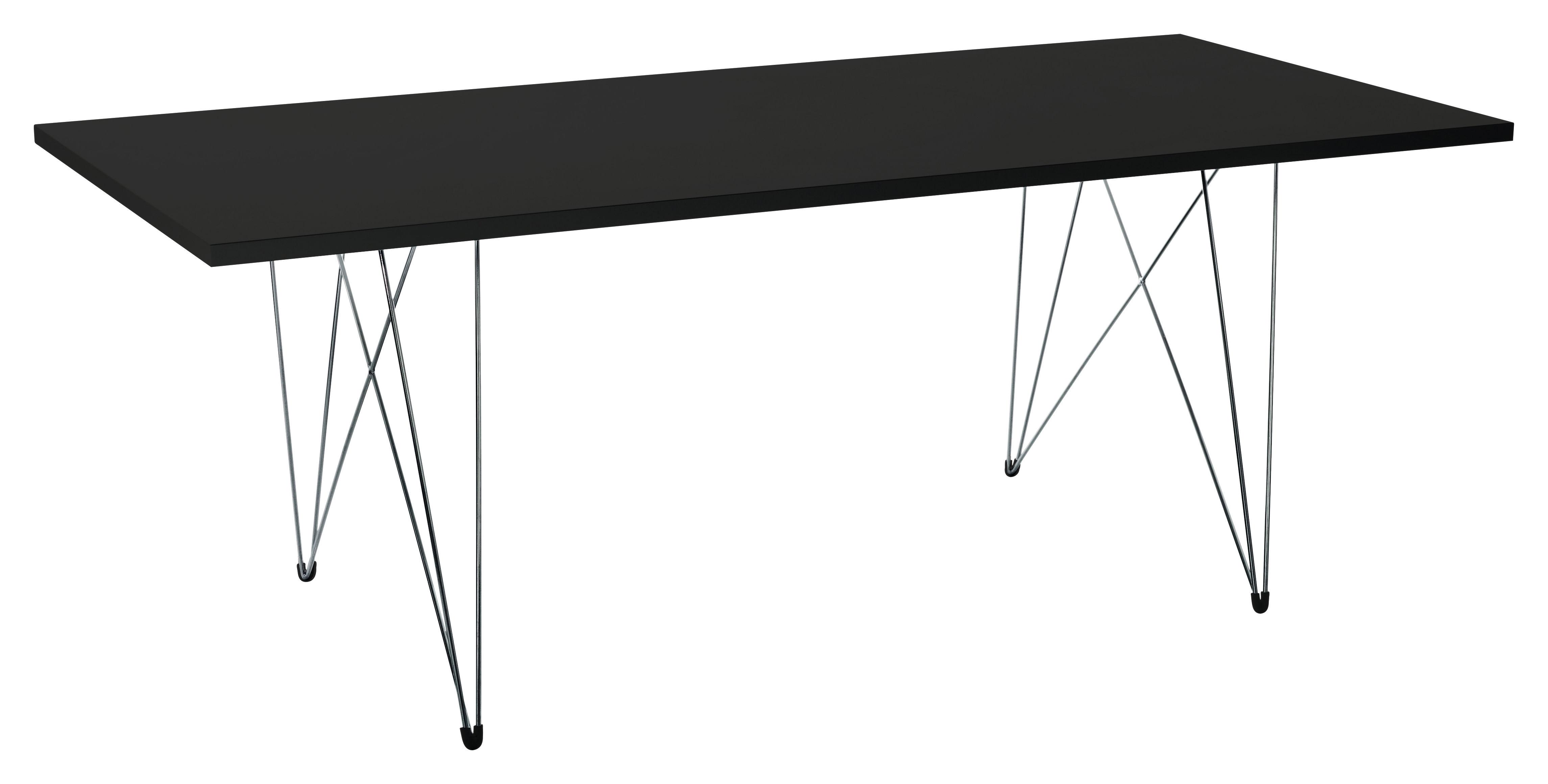 Dossiers - Style industriel - Table XZ3 / 200 x 90 cm - Magis - Noir / Pied noir - Acier, MDF finition polymère