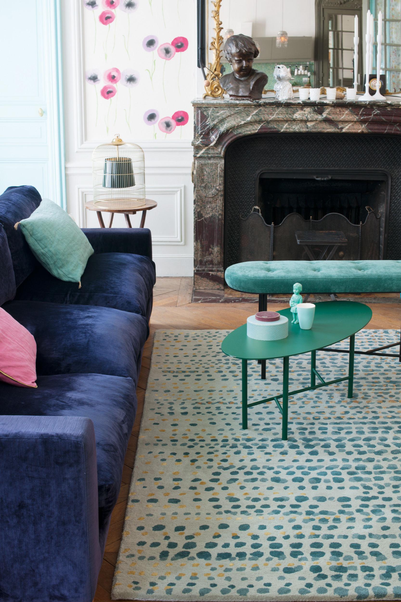 tapis brume toulemonde bochart gris bleu made in design. Black Bedroom Furniture Sets. Home Design Ideas