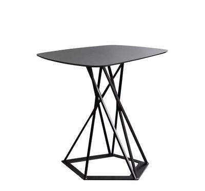 Arredamento - Tavolini  - Tavolino Poliedrik - / Fenix-NTM® - L 58 cm di Zeus - Nero ramato / Fenix NTM® Nero - Acciaio verniciato epossidico, Laminato Fenix-NTM®