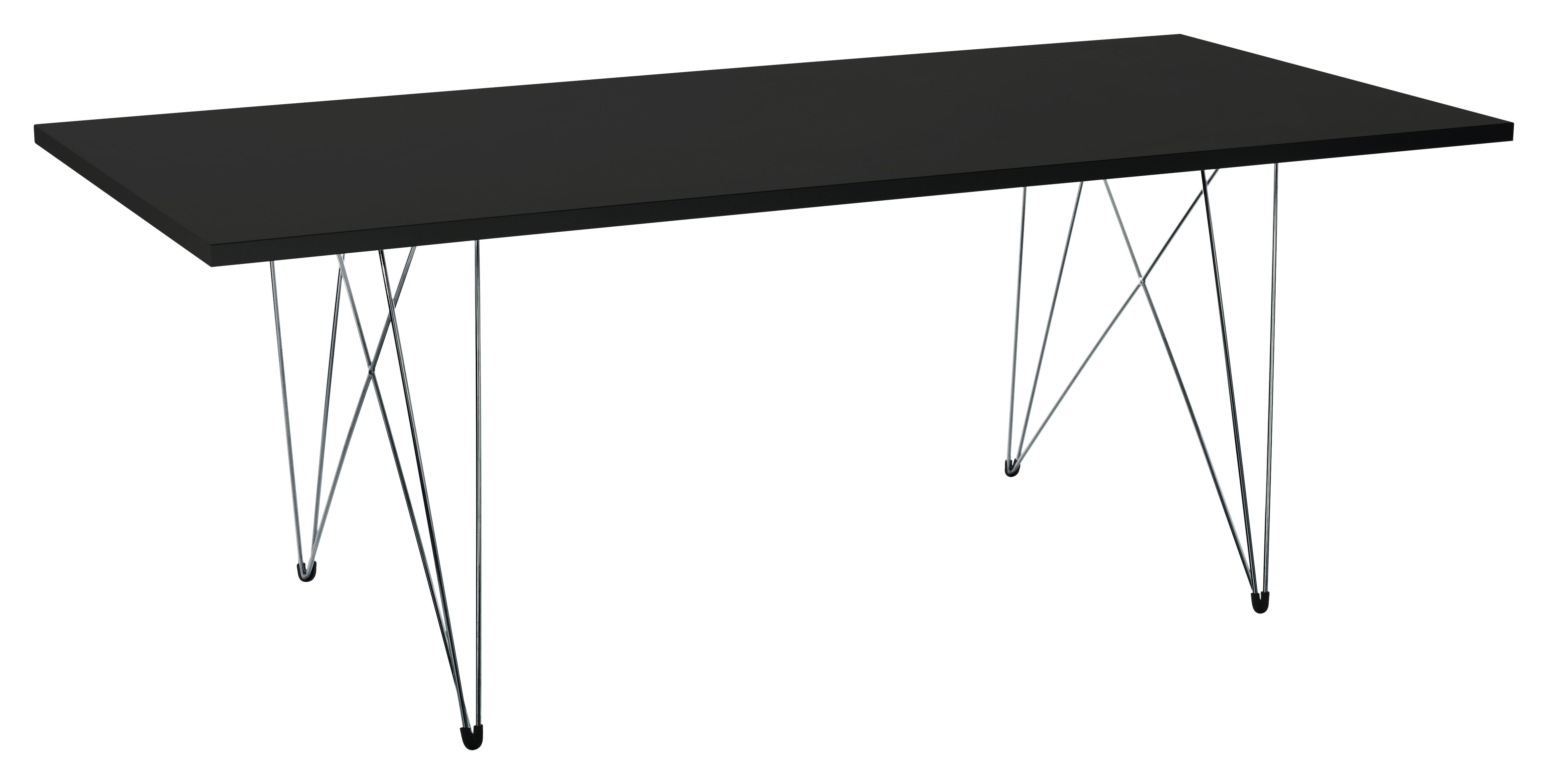 Dossiers - Design industriale - Tavolo rettangolare XZ3 - rettangolare - 200 x 90 cm di Magis - Nero - Ø 200 x 90 cm - Acciaio, MDF finitura polimero