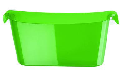 Interni - Bagno  - Vaschetta portaoggetti Boks - Con ventose di Koziol - verde trasparente - Materiale plastico