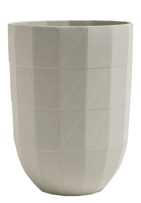 Dekoration - Vasen - Paper Porcelain Vase / Größe L - Ø 14 cm x H 19 cm - Hay - Größe L - grau - Porzellan