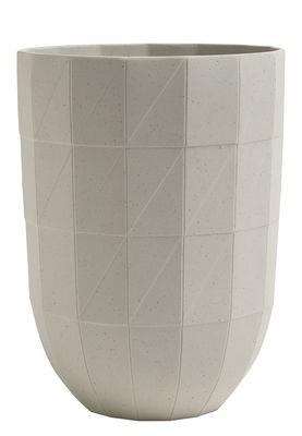 Déco - Vases - Vase Paper Porcelain / Large H 19 cm - Porcelaine - Hay - Large / Gris clair - Porcelaine