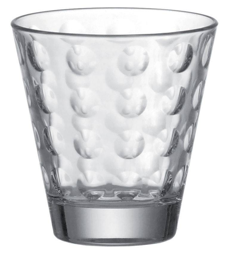 Arts de la table - Verres  - Verre à whisky Optic / H 9 x Ø 8,5 cm - 25 cl - Leonardo - Transparent - Verre pelliculé