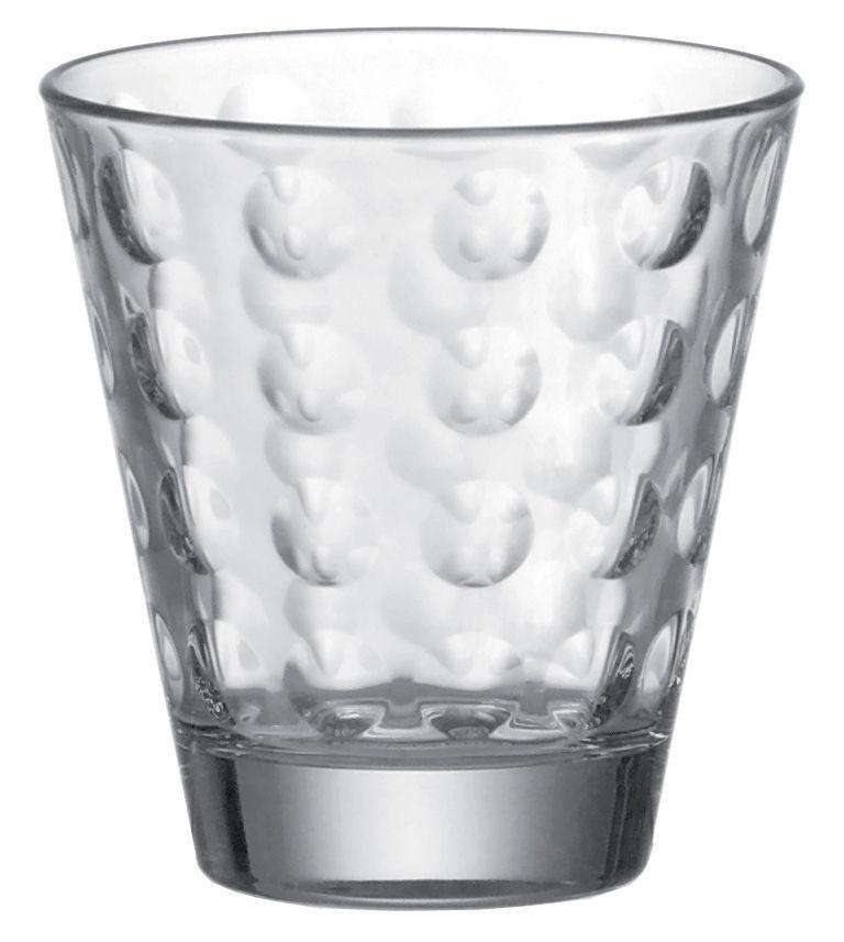 Arts de la table - Verres  - Verre à whisky Optic / H 9 x Ø 8,5 cm - 25 cl - Leonardo - Transparent - Verre pelliculé