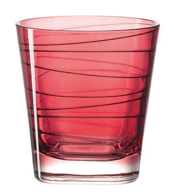 Arts de la table - Verres  - Verre à whisky Vario / H 9 cm - Leonardo - Rouge - Verre