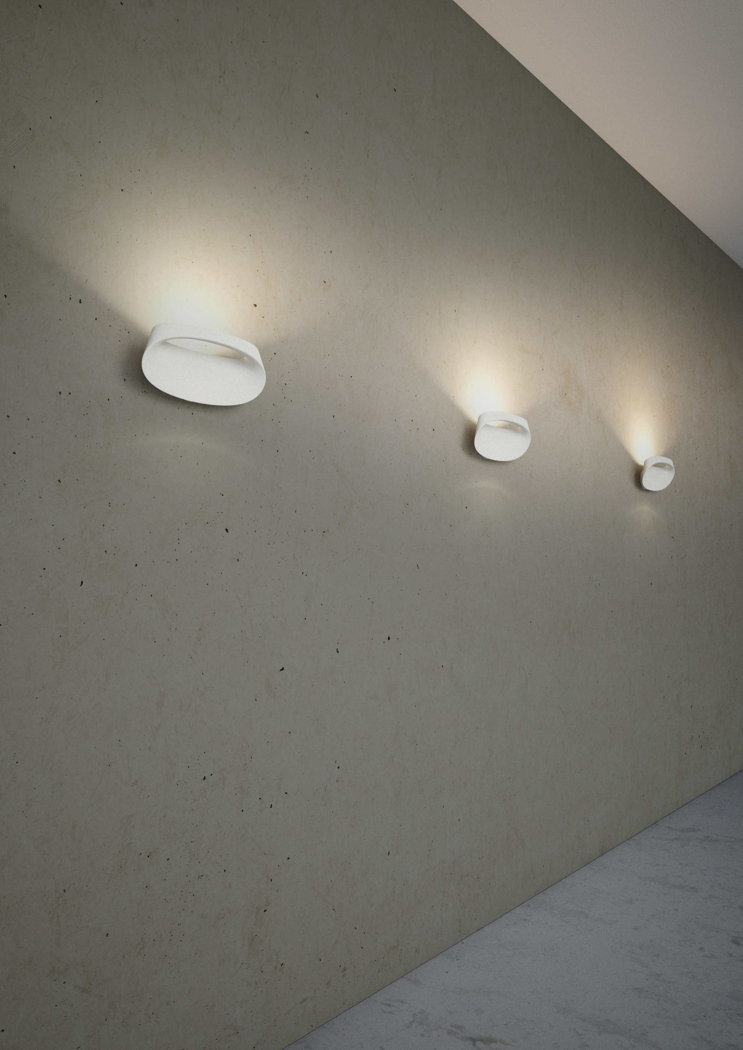 Bonnet Wall light White by Fontana Arte | Made In Design UK