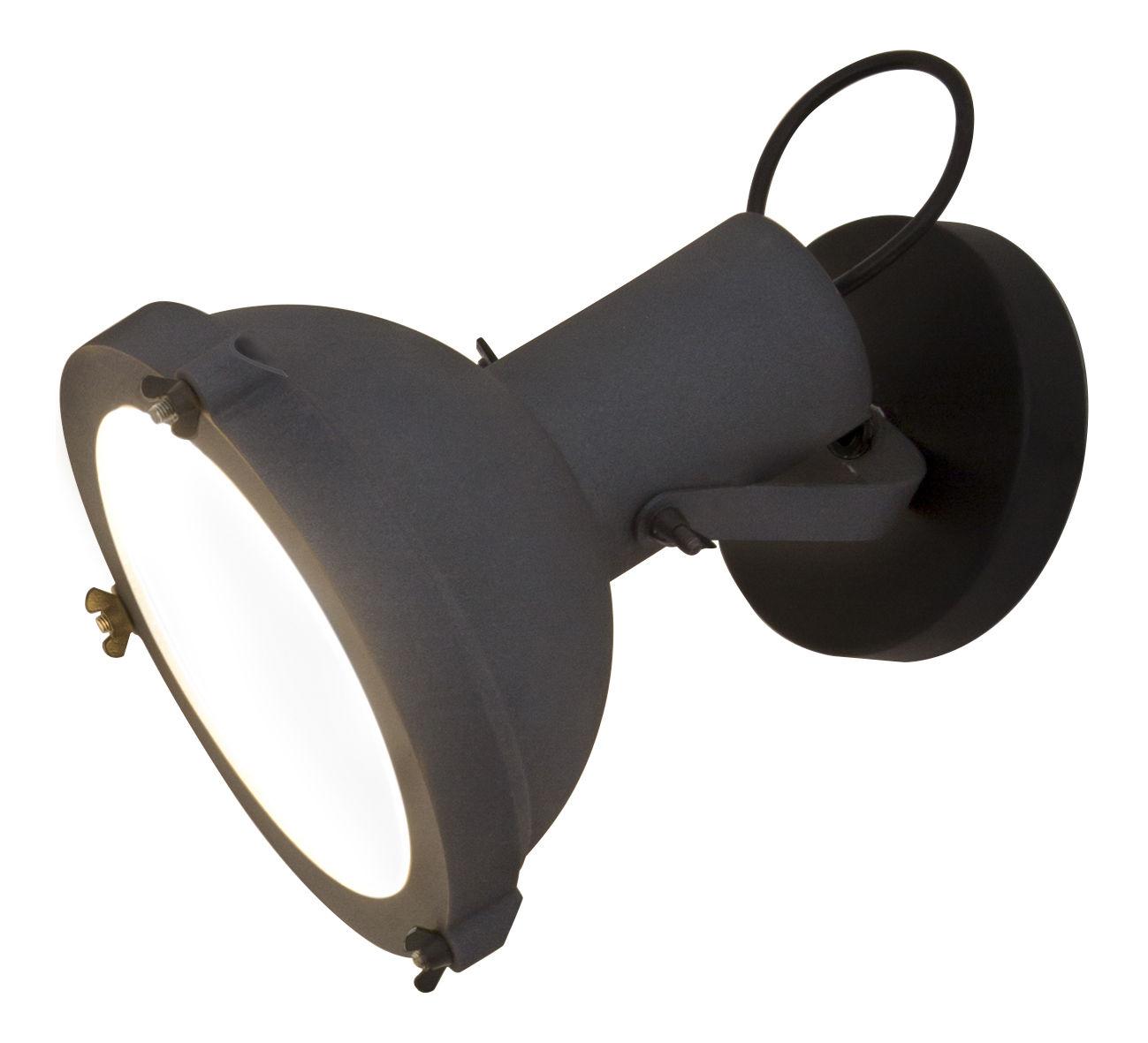 Leuchten - Wandleuchten - Projecteur 165 Wandleuchte von Le Corbusier / Deckenleuchte - Neuauflage des Originals von 1954 - Nemo - Dunkelblau-anthrazit - bemaltes Aluminium, Opalglas