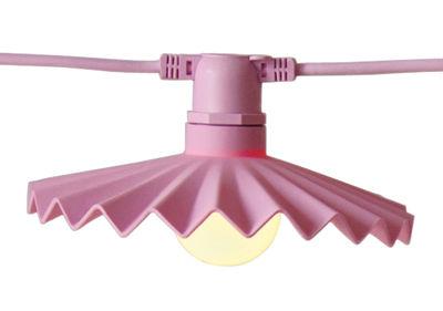 Abat-jour Cappello en silicone / Pour guirlande Bella Vista - Set de 10 - Seletti rose en matière plastique