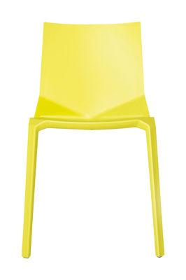 Chaise empilable Plana Plastique Kristalia vert fluo en matière plastique