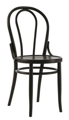 Chaise N° 18 / Réédition 1876 - Wiener GTV Design noir en bois