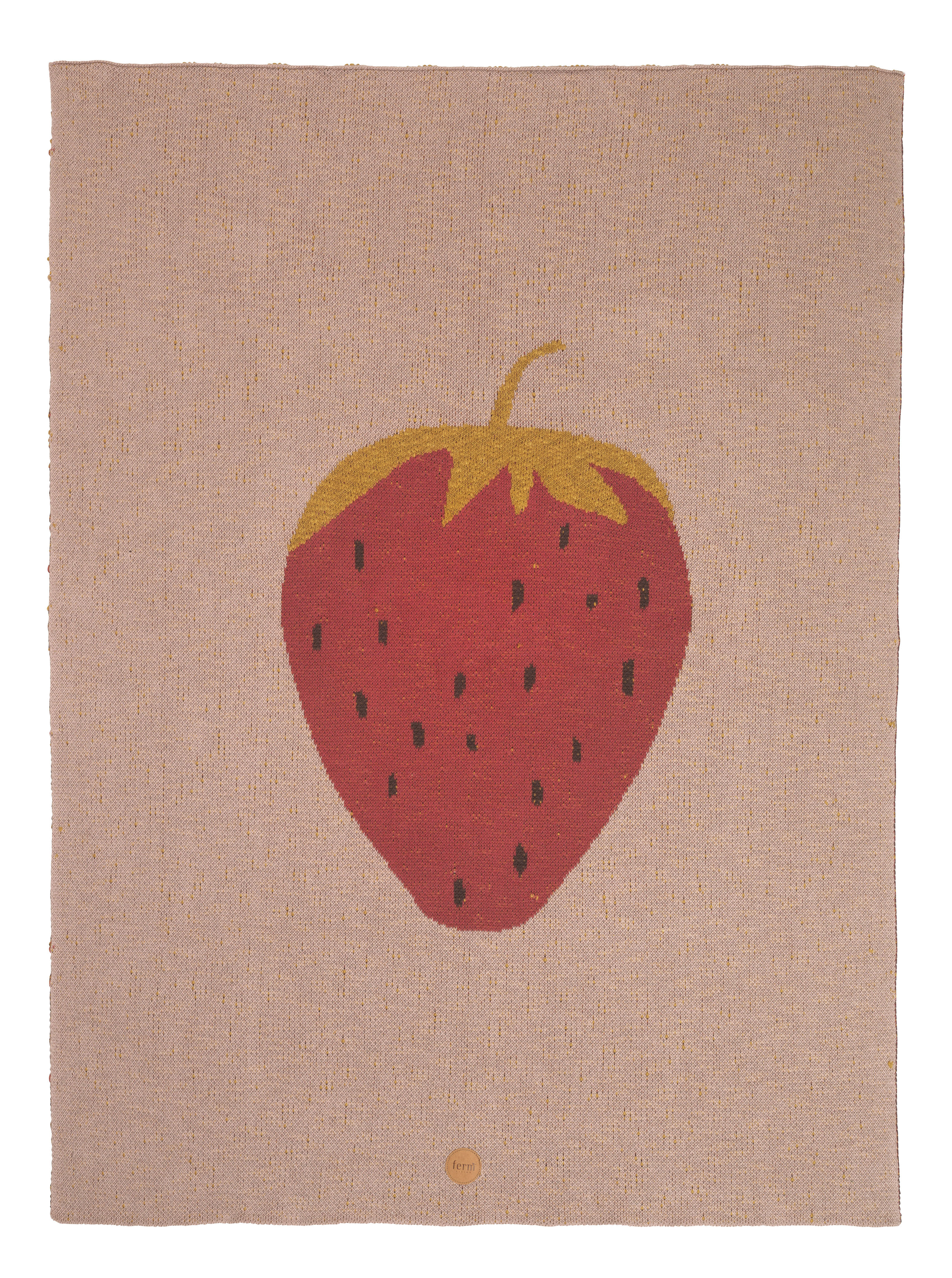 Decoration - Children's Home Accessories - Fraise Children blanket - / 80 x 100 cm - Cotton by Ferm Living - Strawberry / Pink - Cotton