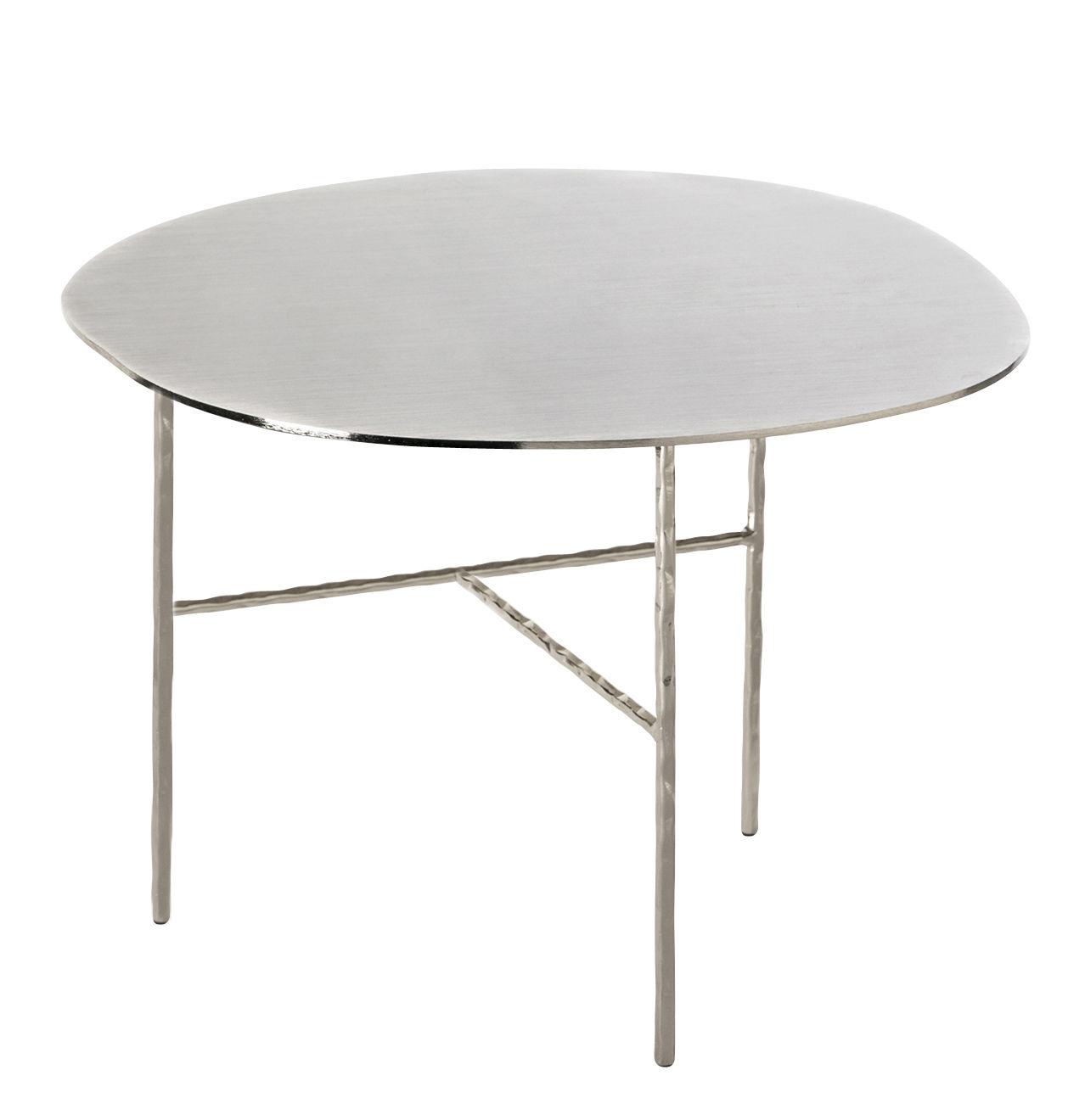 Möbel - Couchtische - XXX Large Couchtisch / Ø 52 cm x H 38 cm - Opinion Ciatti - Nickel - Nickel galvanisé, Schmiedearbeit