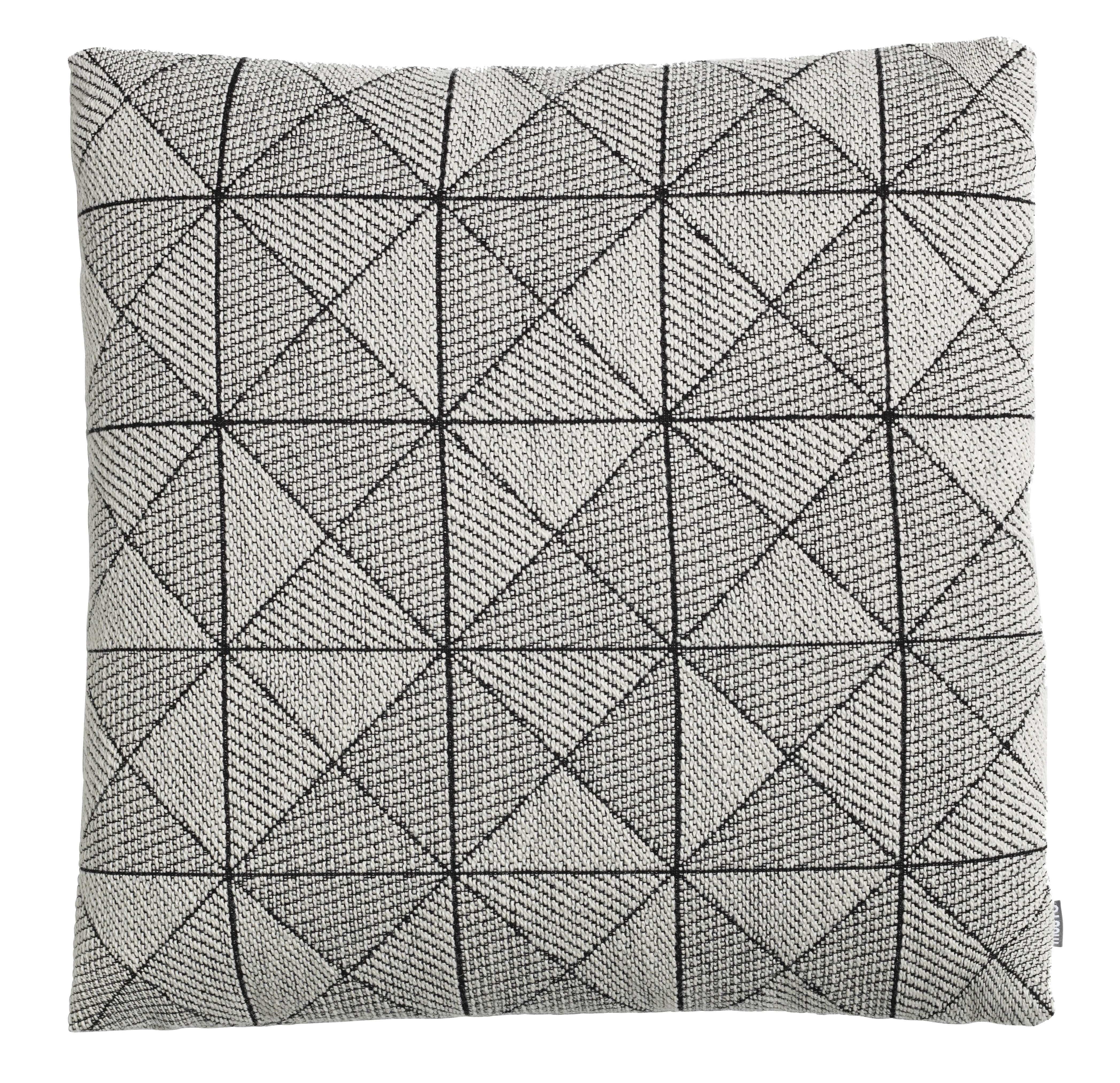 Decoration - Cushions & Poufs - Tile Cushion - 50 x 50 cm by Muuto - White -  Plumes, Polyester fiber, Virgin wool