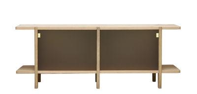 Furniture - Dressers & Storage Units - Pavillon Dresser - / Glass & oak - L 160 cm by ENOstudio - Mocha / Light wood - Oak, Tinted glass