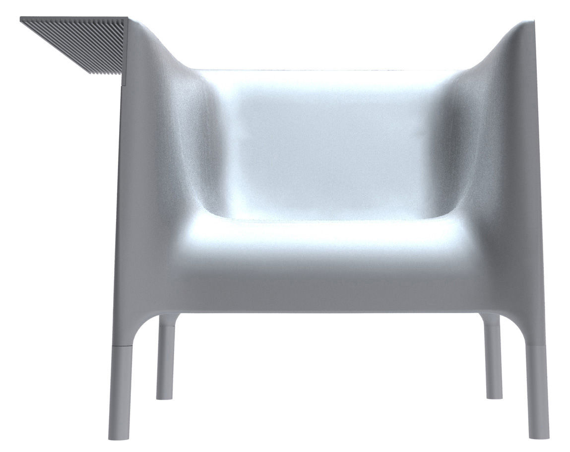 fauteuil out in version laqu e laqu argent driade made in design. Black Bedroom Furniture Sets. Home Design Ideas