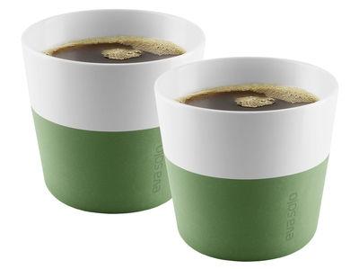 Gobelet Lungo / Set de 2 - 230 ml - Eva Solo blanc,vert botanique en céramique