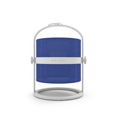 Illuminazione - Lampade da tavolo - Lamapada solare La Lampe Petite LED - / Senza filo - Struttura bianca di Maiori - Blu reale / Struttura bianca - Alluminio, Tessuto tecnico