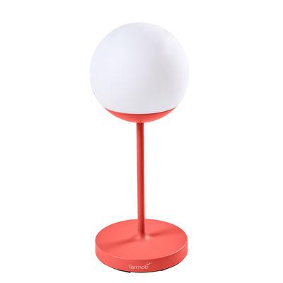 Luminaire - Lampes de table - Lampe sans fil Mooon! LED Mooon! / H 63 cm - Bluetooth - Fermob - Capucine - Aluminium, Polyéthylène