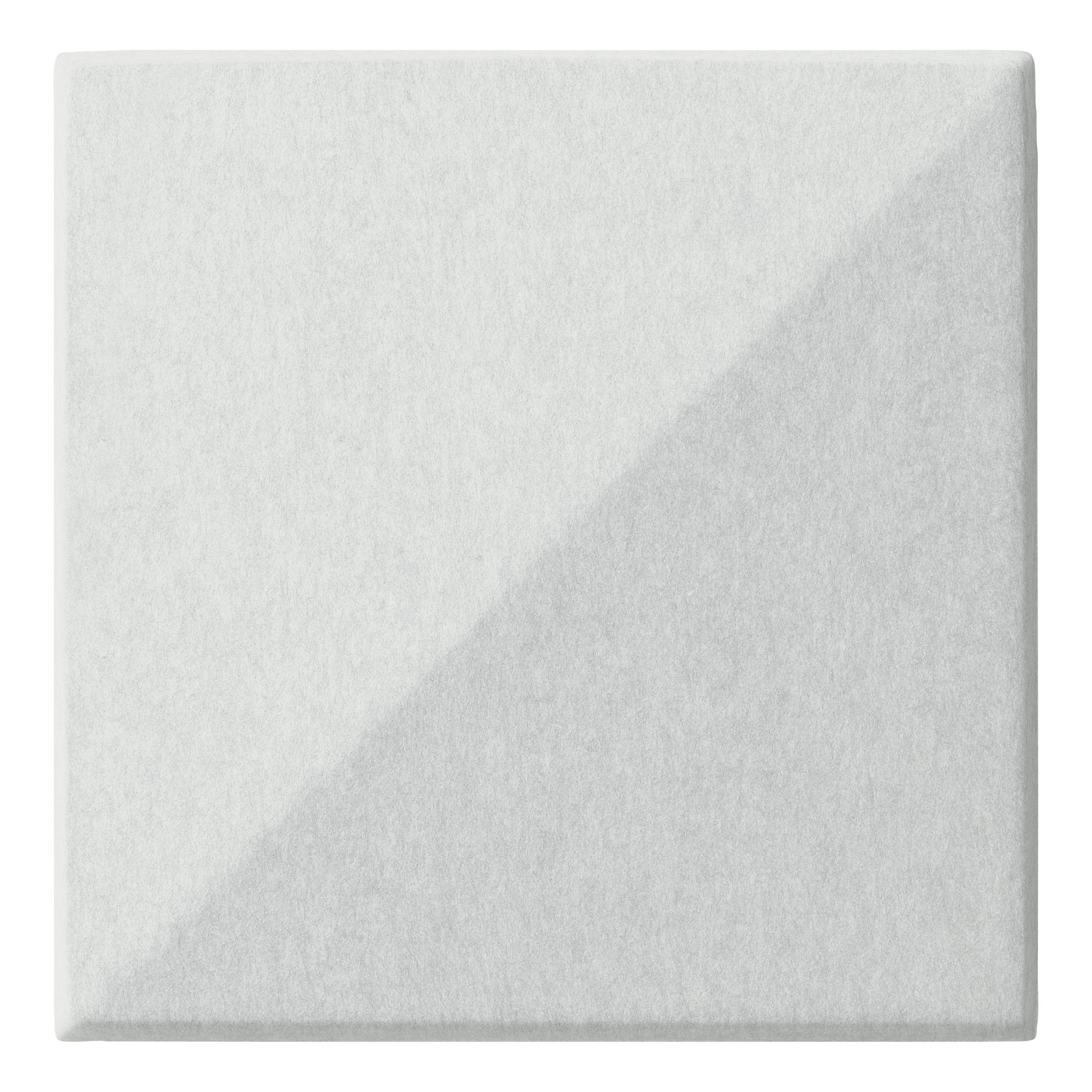 Arredamento - Separè, Paraventi... - Pannello acustico a muro Soundwave Bella di Offecct - Bianco - Fibra di poliestere, Lana