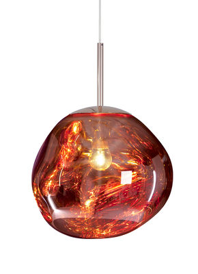Lighting - Pendant Lighting - Melt Mini Pendant - Ø 27 cm by Tom Dixon - Copper - Polycarbonate