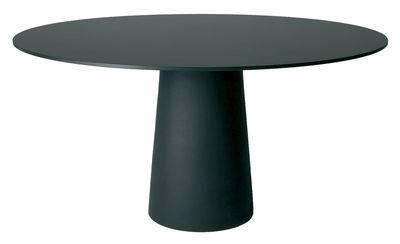 Pied de table Container / H 70 cm - Pour plateau Ø 140 cm - Moooi noir en matière plastique