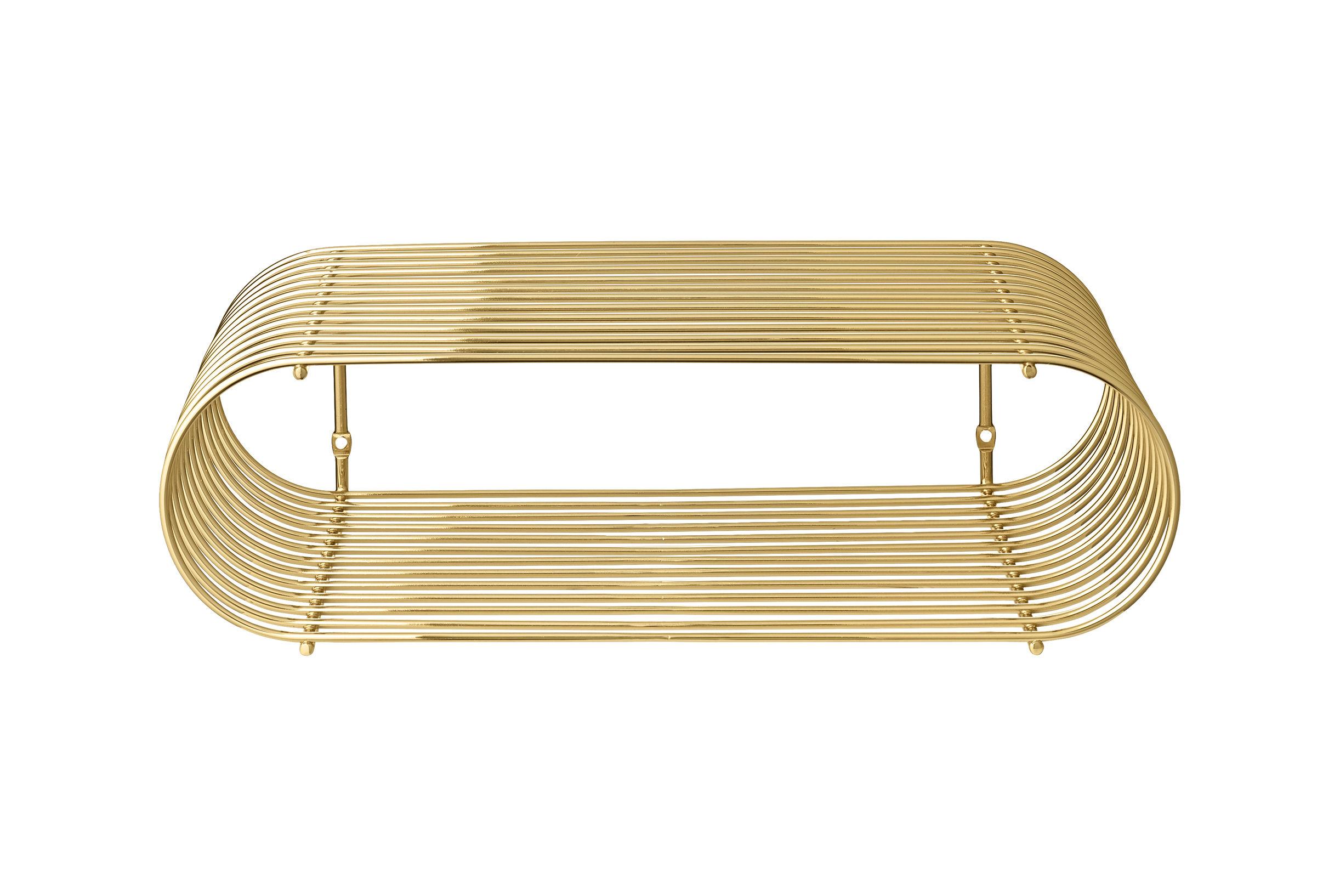 Möbel - Regale und Bücherregale - Curva Regal / L 40 cm - AYTM - Messing - Eisen, messingplatiert