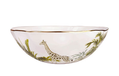 Tableware - Bowls - Jungle Salad bowl - / Porcelain by & klevering - Jungle / Multicoloured - Fine porcelain
