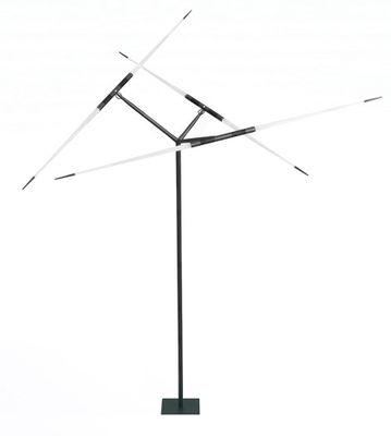 Leuchten - Stehleuchten - Javelot Stehleuchte LED / H 222 cm x Ø 150 cm - Luceplan - Schwarz / weiß satiniert - bemaltes Aluminium