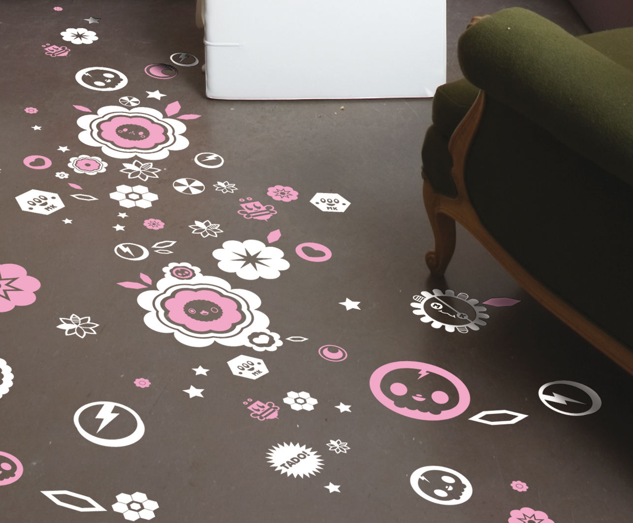 Dekoration - Stickers und Tapeten - Blossom kill Sticker - Domestic - Rosa - Vinyl