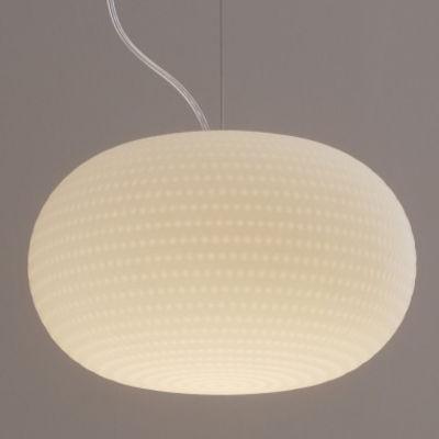 Luminaire - Suspensions - Suspension Bianca LED / Verre - Fontana Arte - Blanc - Verre soufflé