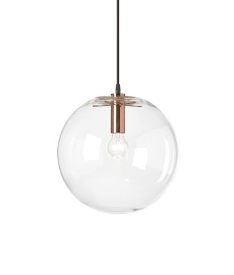 Suspension Selene / Ø 30 cm - Verre soufflé bouche - ClassiCon transparent/cuivre/métal en verre