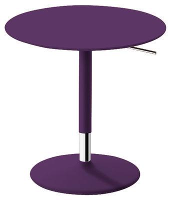 Table à hauteur réglable Pix / Ø 50 cm - H 48-74 cm - Arper violet en métal