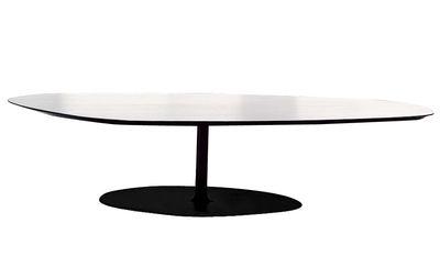 Table basse T-Phoenix grand plateau - Moroso blanc en métal/bois