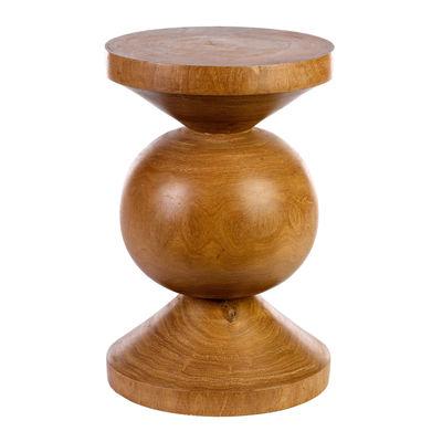 Mobilier - Tabourets bas - Table d'appoint Ball / Bois sculpté main - Pols Potten - Bois naturel - Bois de Dimb massif