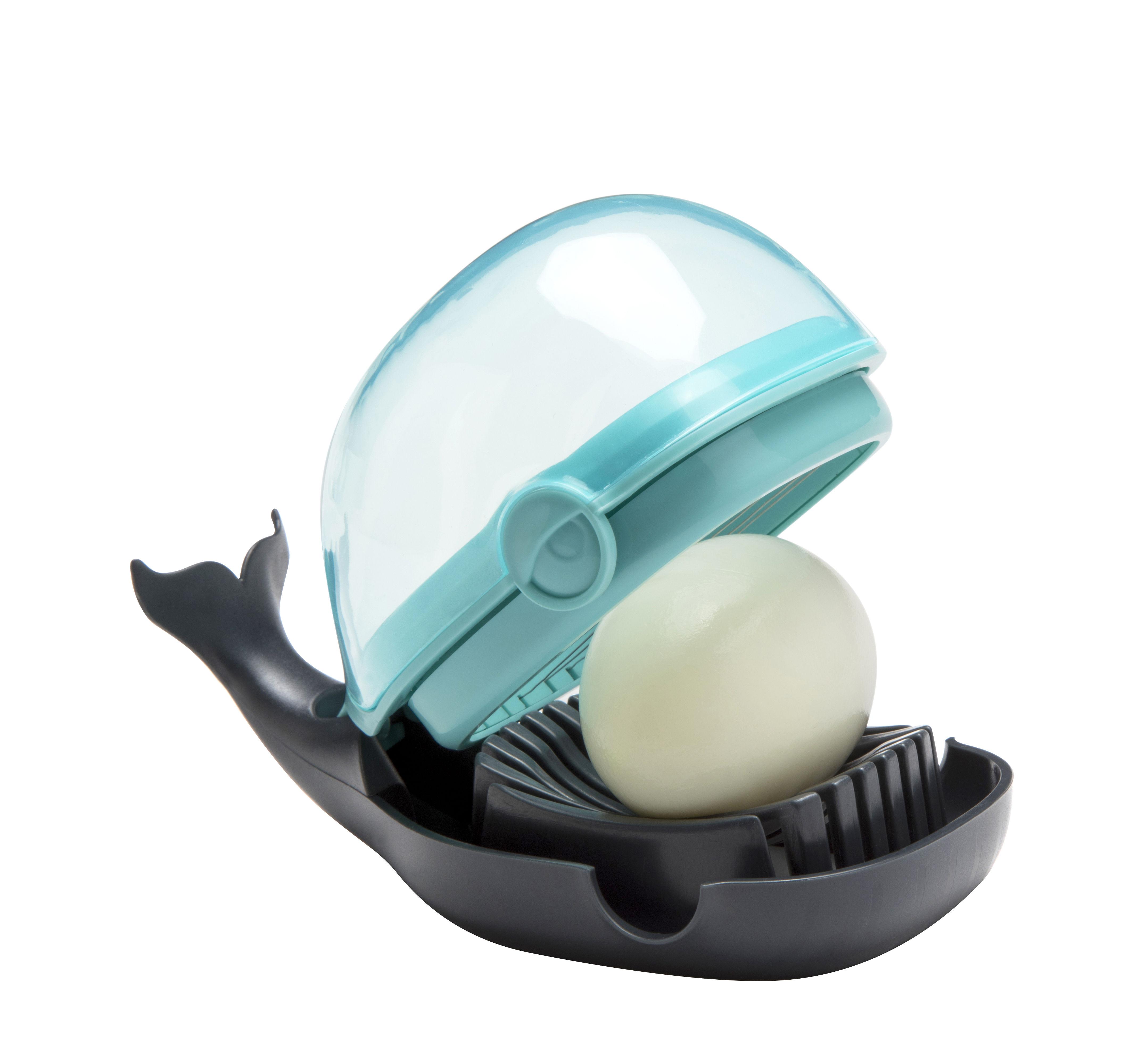 Cucina - Utensili da cucina - Taglia uovo Humphrey di Pa Design - Blu - ABS, Acciaio inossidabile