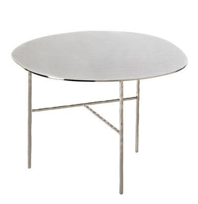 Arredamento - Tavolini  - Tavolino XXX Large - / Ø 52 x H 38 cm di Opinion Ciatti - Nichel - Ferro battuto , Nichel galvanizzato