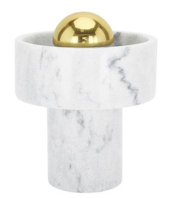 Leuchten - Tischleuchten - Stone Tischleuchte / H 17,6 cm - Tom Dixon - Marmor weiß - Marmor