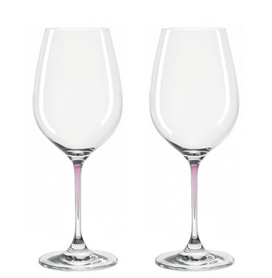 Arts de la table - Verres  - Verre à vin La Perla / Set de 2 - Leonardo - Violet - Verre Teqton®