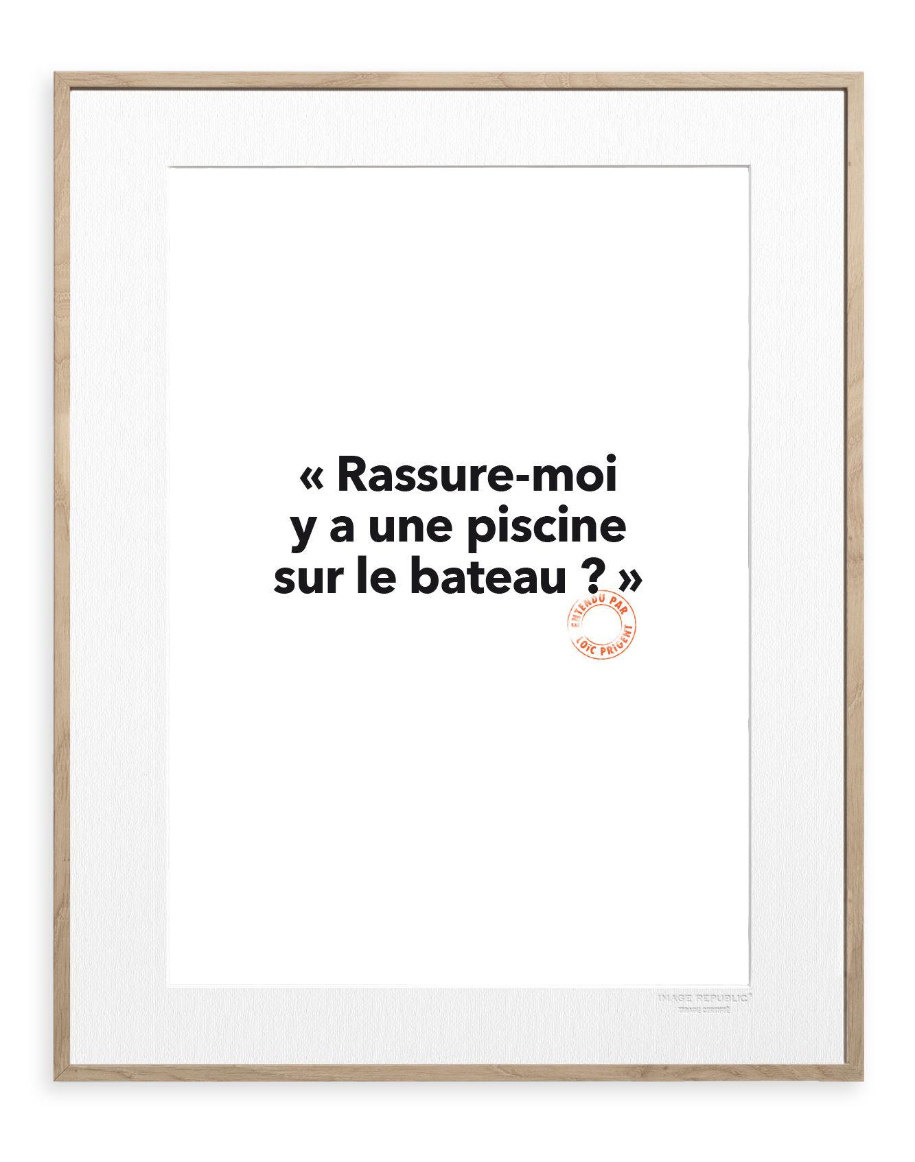 Déco - Stickers, papiers peints & posters - Affiche Loïc Prigent - Y a une piscine / 30 x 40 cm - Image Republic - Y a une piscine - Papier