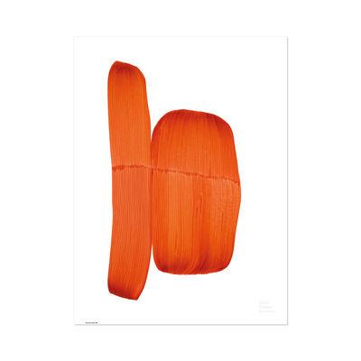 Déco - Stickers, papiers peints & posters - Affiche Ronan Bouroullec - Drawing 2018 / 67,5 x 67,5 cm - Vitra - Orange - Papier