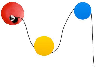 Applique avec prise Spotlight / Modulable - La Corbeille bleu,jaune,rouge en métal