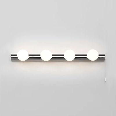 Illuminazione - Lampade da parete - Applique Cabaret Four - / L 55 cm  di Astro Lighting - Cromato - Acciaio inox cromato, Vetro acidato
