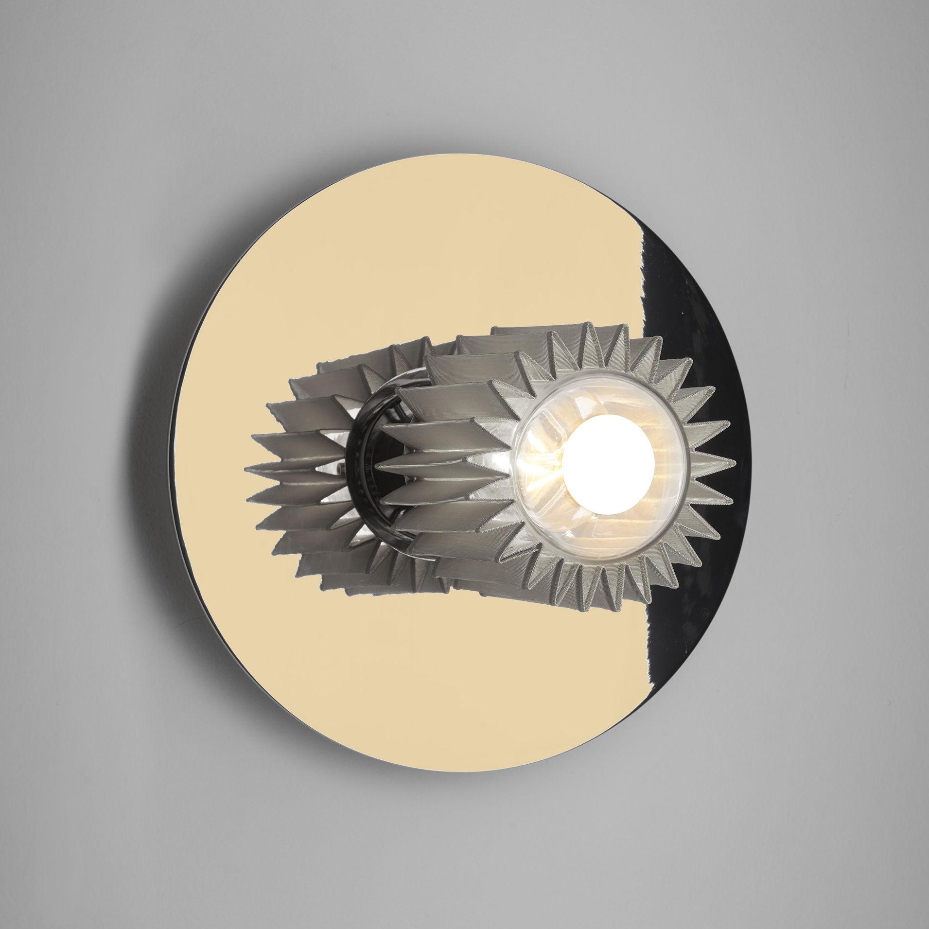 Luminaire - Appliques - Applique In the sun Medium / Plafonnier - Ø 27 cm - DCW éditions - Doré / Maille argent - Acier, Aluminium, Verre