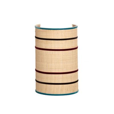 Luminaire - Appliques - Applique Peaky / H 28 cm - Non électrifiée - Maison Sarah Lavoine - Naturel / Bleu & Aubergine - Acier, Rabane naturelle, Velours