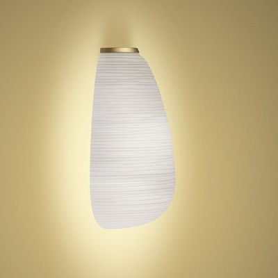 Luminaire - Appliques - Applique Rituals 1 SEMI My Light / Verre - Bluetooth - Foscarini - Blanc & or - Métal laqué, Verre soufflé satiné
