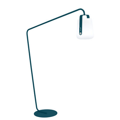 Lighting - Floor lamps - Base, legs - for Balad lamps / Large H 190 cm - Offset - by Fermob - Acapulco blue - Painted steel