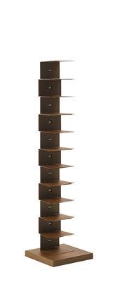 Mobilier - Etagères & bibliothèques - Bibliothèque Ptolomeo Art XL / 1 face - H 160 x L 40 cm - Opinion Ciatti - Marron Corten - Acier effet Corten