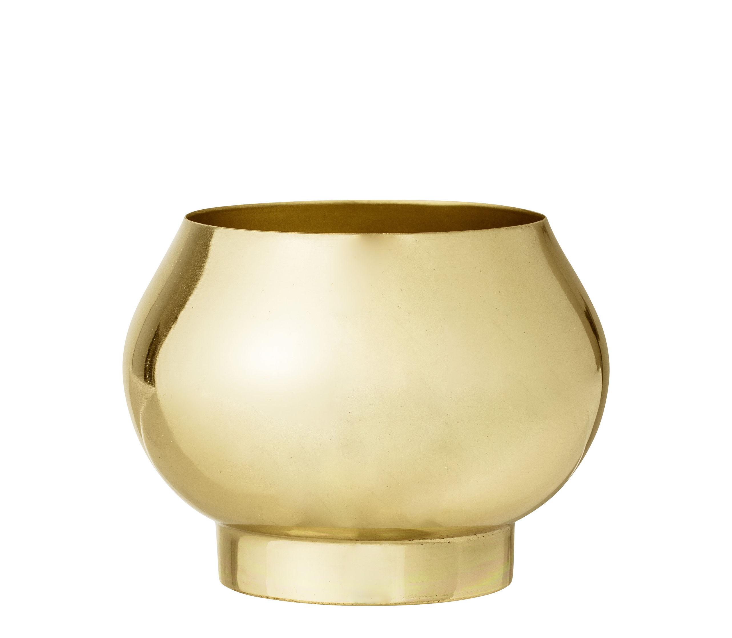 Dekoration - Töpfe und Pflanzen - Blumentopf / Metall - Ø 11 x H 8 cm - Bloomingville - Gold - Eisen